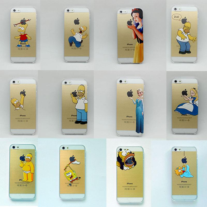more photos 47dc4 d8d05 Homer Simpson Ultra Thin Hard Cover Case For Iphone 6,Fshion Transparent  Clear Capa For Apple Iphone 6 4.7 5.5 6plus 5G 5S 4 4S 5C Cell Phones  Covers ...
