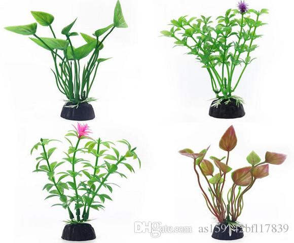 Fish Tank Aquarium Decoration Colorful Small water grass Aquarium Plastic Plant office decoration 6 Types Aquarium Decoration