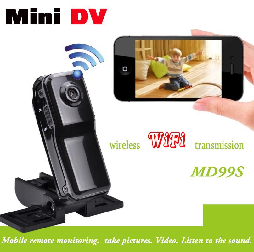 2015 High quality HD WiFi camera HD99S Mini DV Wireless IP Camera Video wifi hd pocket-size Remote by Phone mini camera