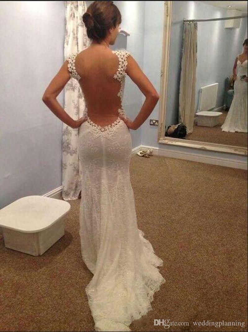 Hot Sale Dress Mermaid Sheer Back Wedding