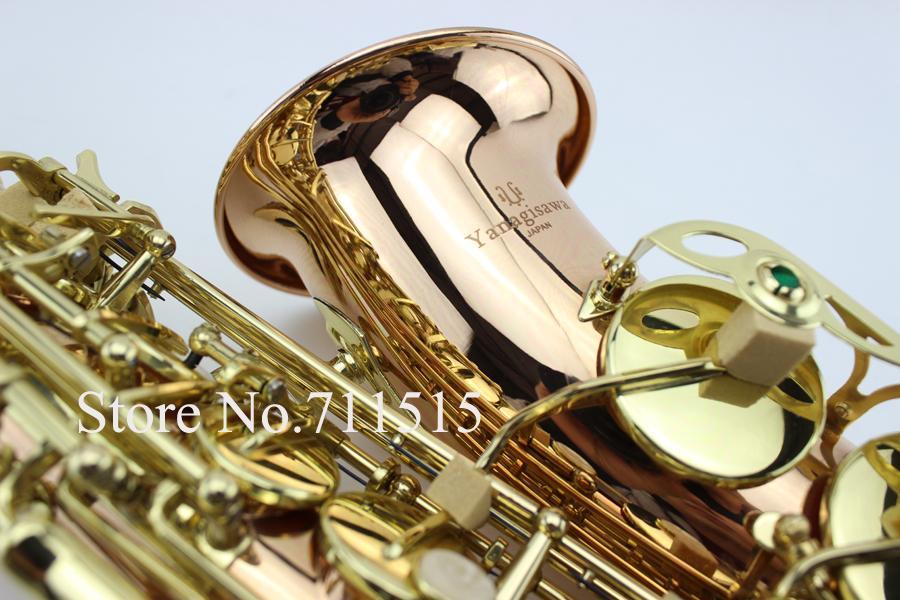 جديد اليابانية ياناجيساوا A-992 e شقة ألتو ساكسفون الذهب ورنيش ساكس الآلات الموسيقية الكمال الجودة شحن مجاني