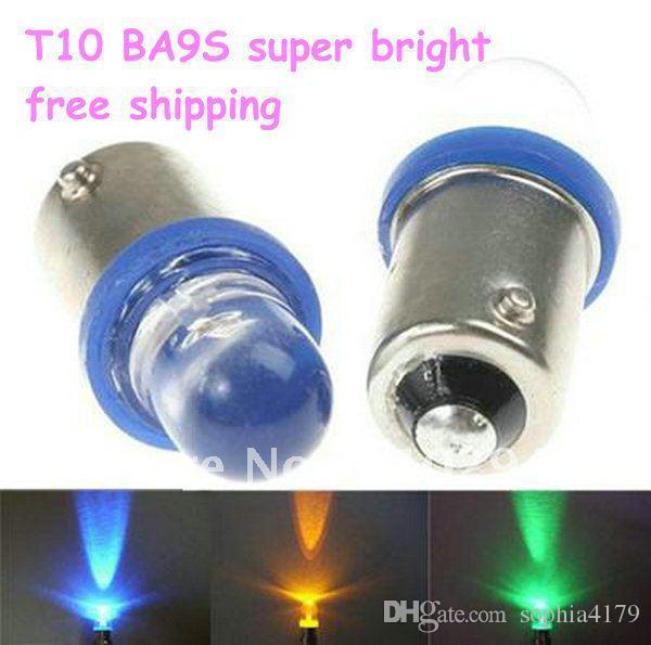 Großhandel 300 stücke T10 BA9S 1LED 1 smd Innenbeleuchtung Keil Lampe Auto Lampe DC12V Auto Seitenlicht