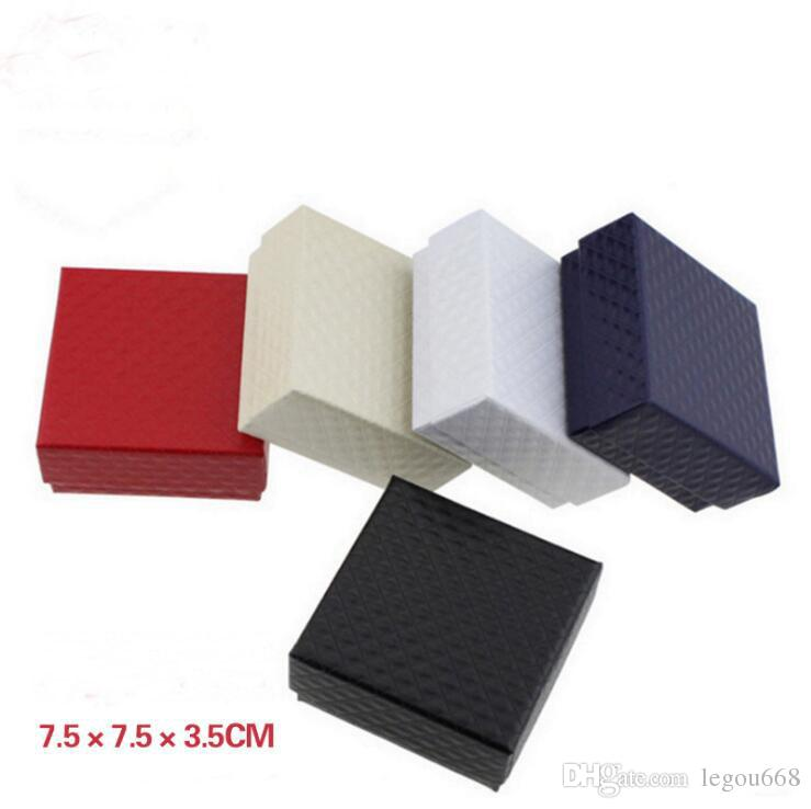 Trendy Verpackung Box für Schmuck Geschenke Schmuck Armband Halskette Zubehör Schwarz Farbe Geschenkboxen 7,5 * 7,5 * 3,5 cm G1160