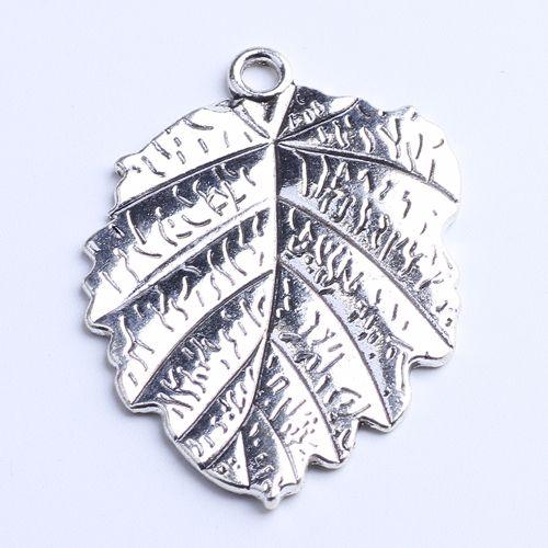 New fashion silver/copper retro Dangle Charms Leaf Pendant Manufacture DIY jewelry pendant fit Necklace or Bracelets charm 20pcs/lot 1026x