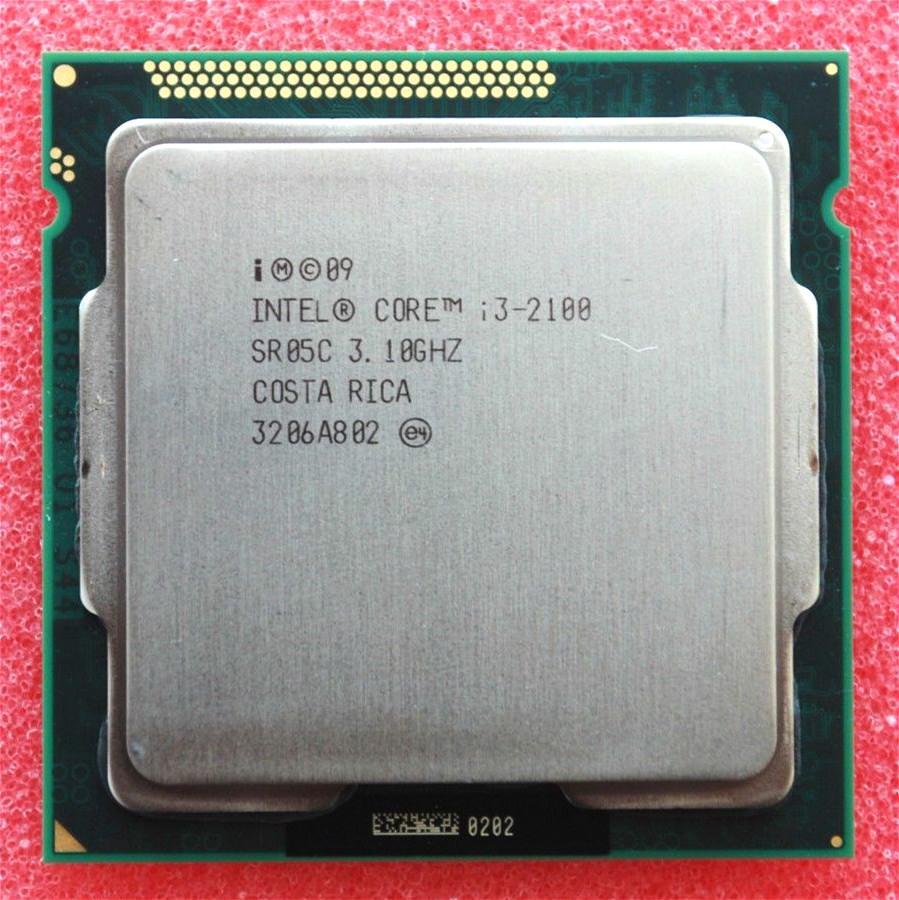 Intel Core i3 2100 Processor 3.1GHz 3MB Cache Dual Core Socket 1155 Qual Core Desktop I3-2100 CPU