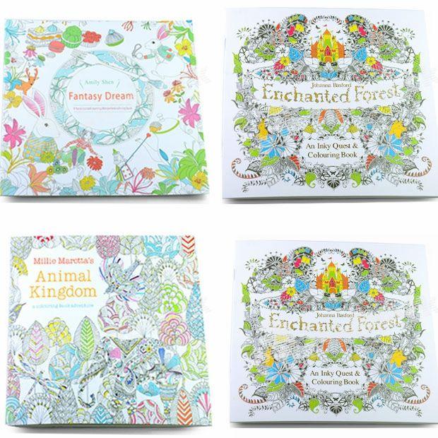 enchanted forest decorations.htm coloring books 4 designs secret garden animal kingdom fantasy  coloring books 4 designs secret garden