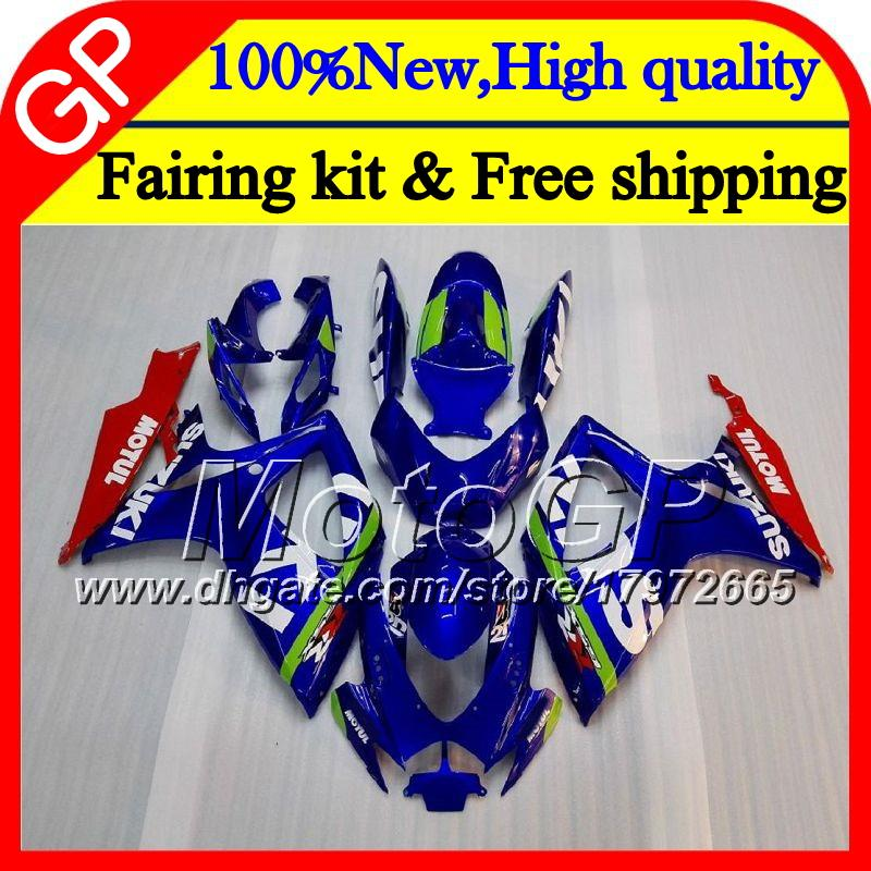 SUZUKI GSX R600 K6 için Gövde GSX-R750 GSXR 600 06 07 25GP9 Parlak mavi GSXR600 GSXR750 06 07 GSXR 750 GSXR600 2006 2007 Motosiklet Fuarı