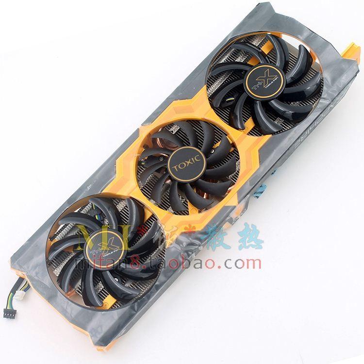 Nieuwe originele voor Sapphire Toxic R9 270x 280x 370X 5 / Five-Tube videokaartventilator met koellichaamhoogte 54 * 54mm