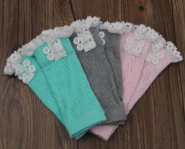 7 style High quality Women Crochet Lace leg warmers Boot Cuff lady Button down Knit Leg Warmers Ballet Boot Socks covers stockings D680J