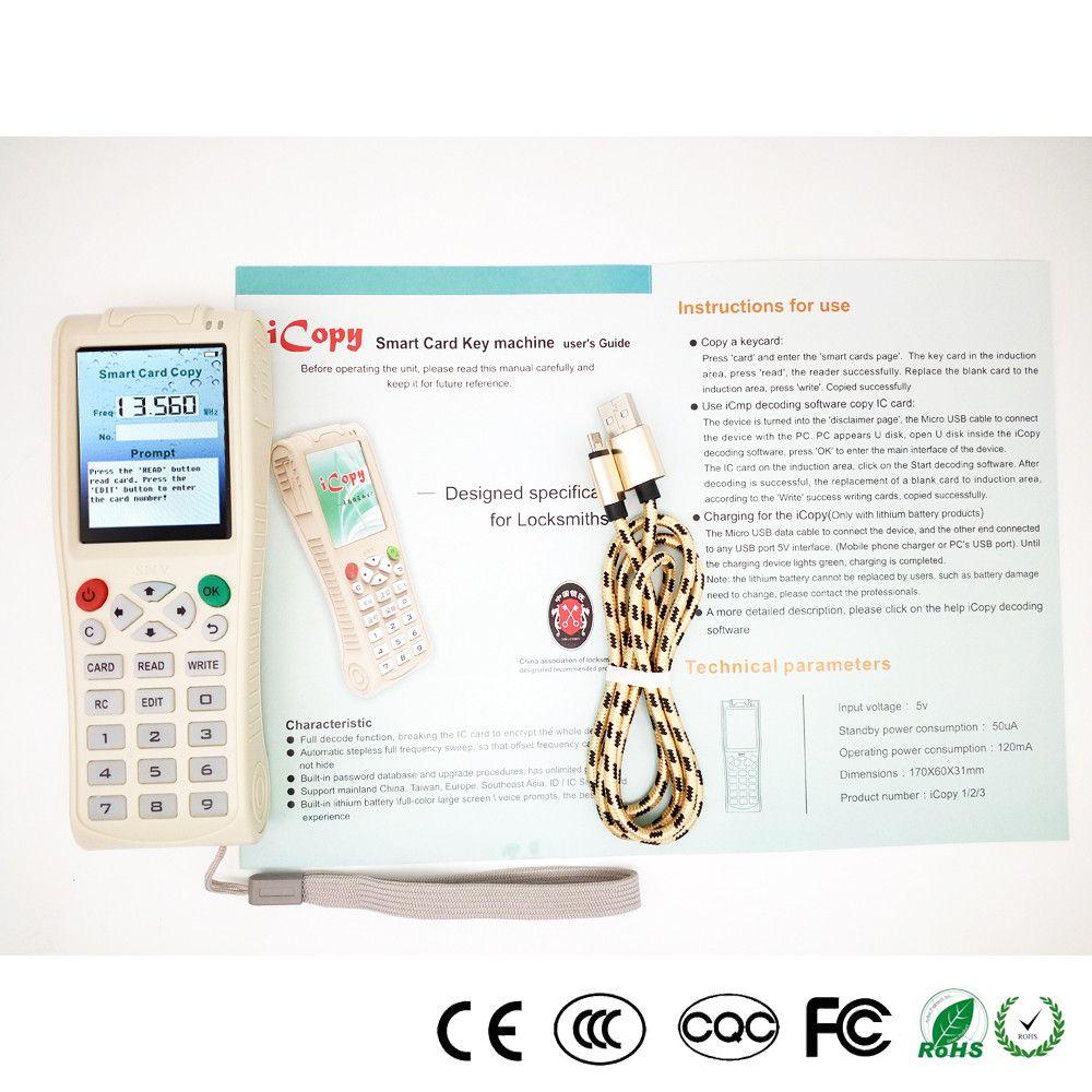 Neue Ankunfts-Schlüsselmaschine iCopy 3 iCopy5 mit vollständiger Decodierungsfunktion Smart Card Schlüsselmaschine RFID NFC-Kopierer IC / ID Reader / Writer Duplicator