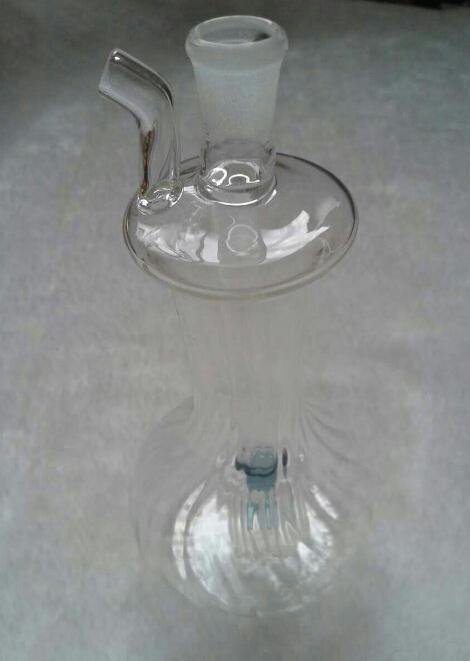 2015オイルドラムガラスボッツオイルリググラスの喫煙パイプガラスのリグを持つグラスの水道管(10 /ロット)