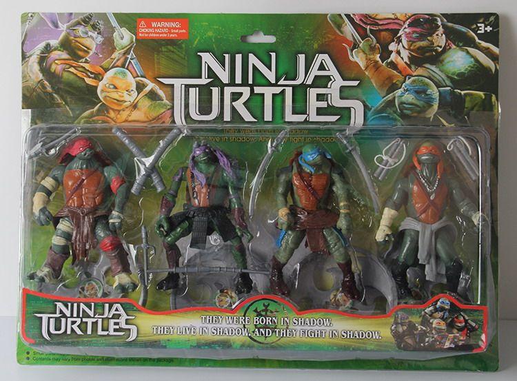 Movie TMNT Teenage Mutant Ninja Turtles Set of 4pcs Action Figures Toy PVC Model