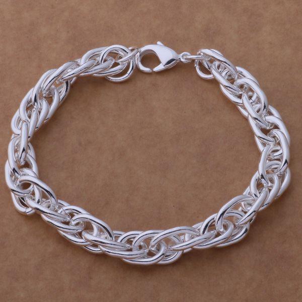 Глобальная горячая стерлингового серебра 925 покрытием цепи браслет длина 20 см высокое качество мода ювелирные изделия заводская цена бесплатная доставка