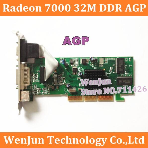 Free Shipping Brand New Sapphire ATI Radeon 7000 32M DDR VGA/DVI/TVO AGP VIDEO CARD in stock order<$18no track
