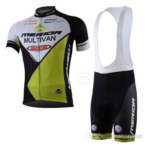진귀한 자전거 jerseys 영국 자전거 정장 MERIDA 팀 사이클링 저지 사이클링 착용 + 짧은 앞치마 바지 뉴질랜드 사이클링 저지 C00S