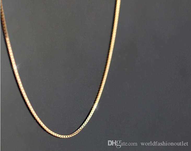 2020 Women Rose Gold Necklace Chain 925 Sterling Silver Boxes Chain 45cm 18 Inches For Female Fashion Jewelry Collares Mujer Simple Necklaces From Worldfashionoutlet 1 01 Dhgate Com