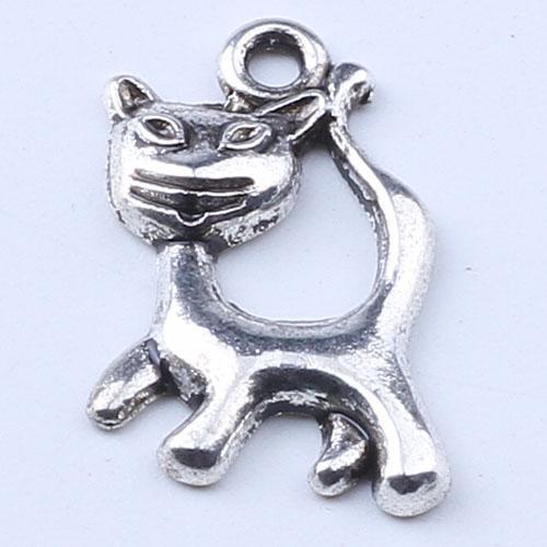 Новая мода серебро / медь ретро кошка кулон производство DIY ювелирные изделия кулон fit ожерелье или браслеты Шарм 400 шт. / лот 1634c