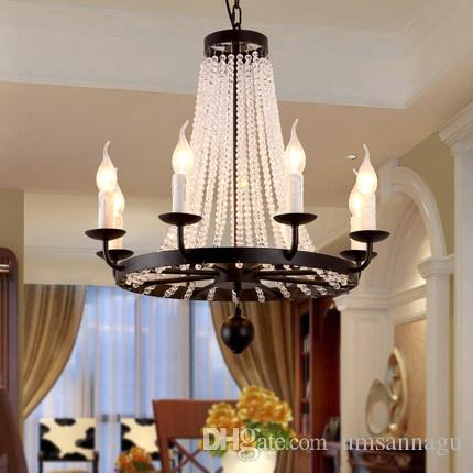 American Crystal Chandelier Retro Country Chandeliers Lights Fixture Vintage Lamps Hotel Lobby Parlor Dining Room Home Indoor Lighting Small Chandelier Chandelier Fan From Umsannagu 476 91 Dhgate Com,Good Plants To Grow Indoors In Winter