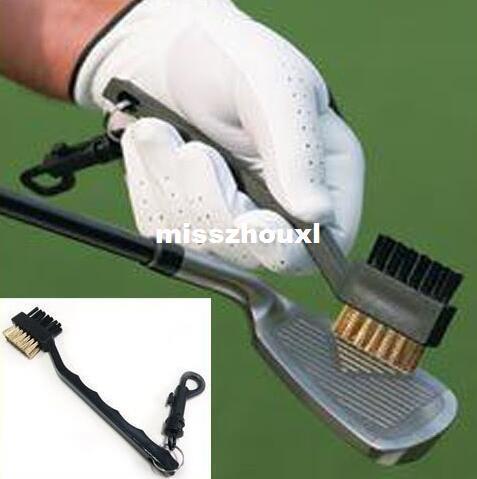 Çift Kıllar Golf Kulübü Fırça Temizleyici Topu 2 Yollu Temizleme Klip Plastik Oluk Golf Araçları