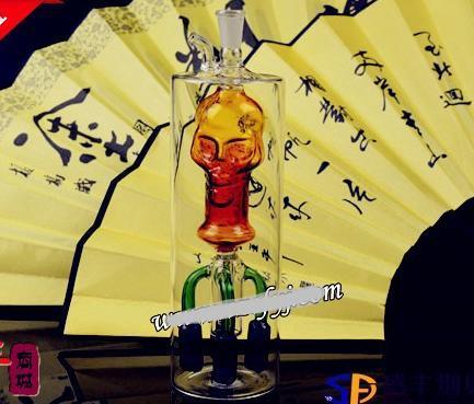 送料無料Wholesale Hookah  -  Hookah Glass [60#4下顎スカルポット、カラーランダム配送