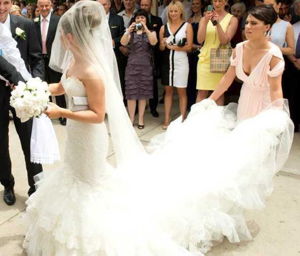 Ucuz Gelin Düğün Veils İki Katmanlar Tül uzun Veils Allık ile