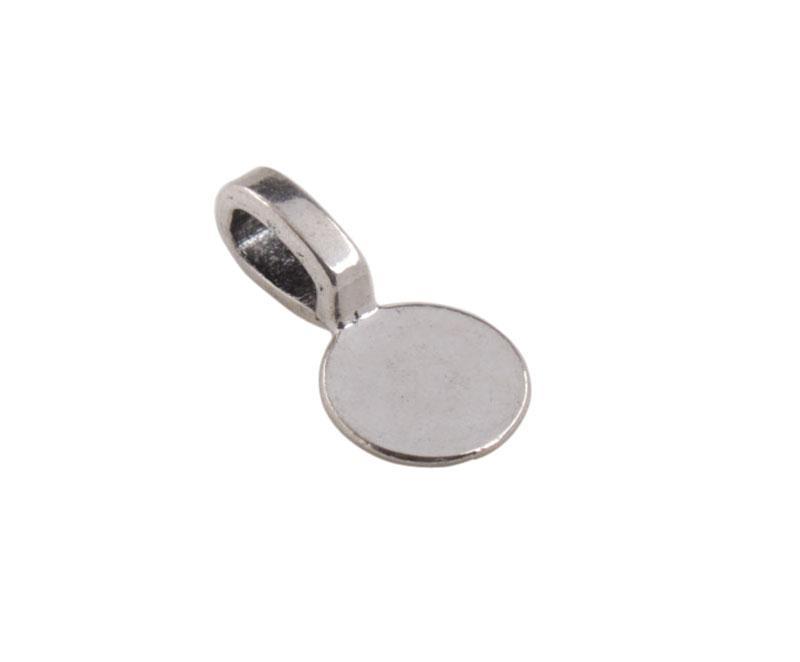 50 stks antiqued zilver 9mm ronde cabochon setting lijm op charmes # 92240