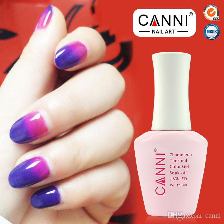 12pcs*15ml Free Shipping 100% Brand New Lady's Nail Art Manicure CANNI Chameleon Thermal Color Change Gel Polish