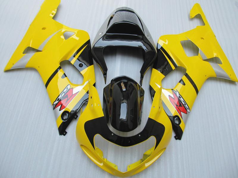 OEM paint kit for Suzuki GSXR600 GSXR750 fairings 00 01 02 03 GSXR 600 750 K1 Fairing kits GSX-R600 R750 2001 2002 2003 free customize