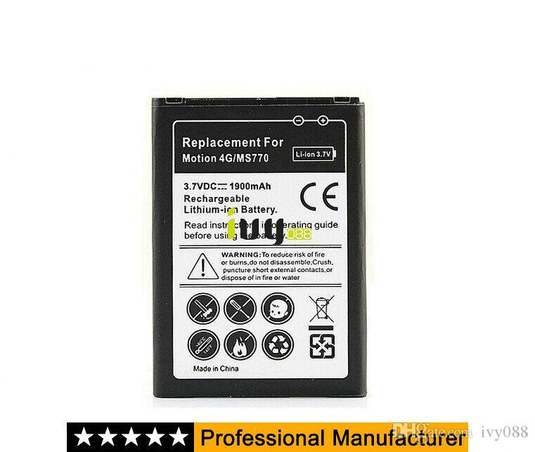 Voor LG Motion 4G MS770 Mobiele Telefoon Batterijen LS860 LW770 US730 LG730 AS730 P770 P705 P700 Optimus L7 Batterij BL-44JH 1900mAh 100pcs / lot