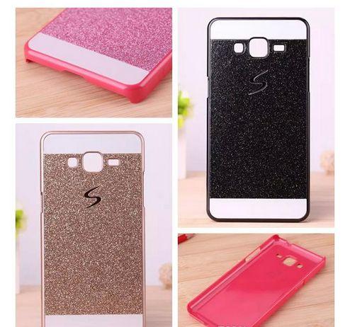 S line Bling Glitter Hard Plastic Case For Samsung Galaxy Core Prime G360 Alpha G850 Grand Duos I9082 E5 E7 Hybrid Skin Cover