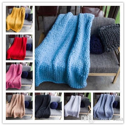 купить оптом 20 цветов 3 размеры вязаное одеяло ручной ткачество