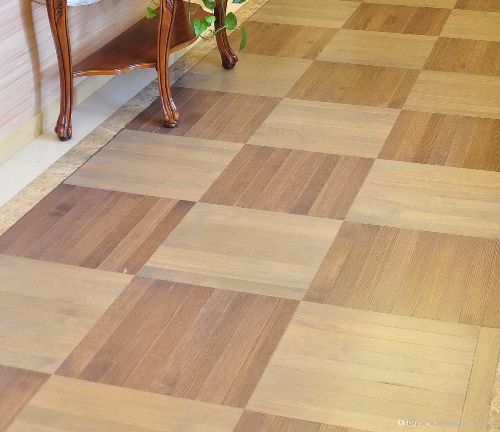 European style oil Polygon Decorative wood floor Burmese teBlack walnut birch wood flooring Oak Merbau Natural oil wood floor