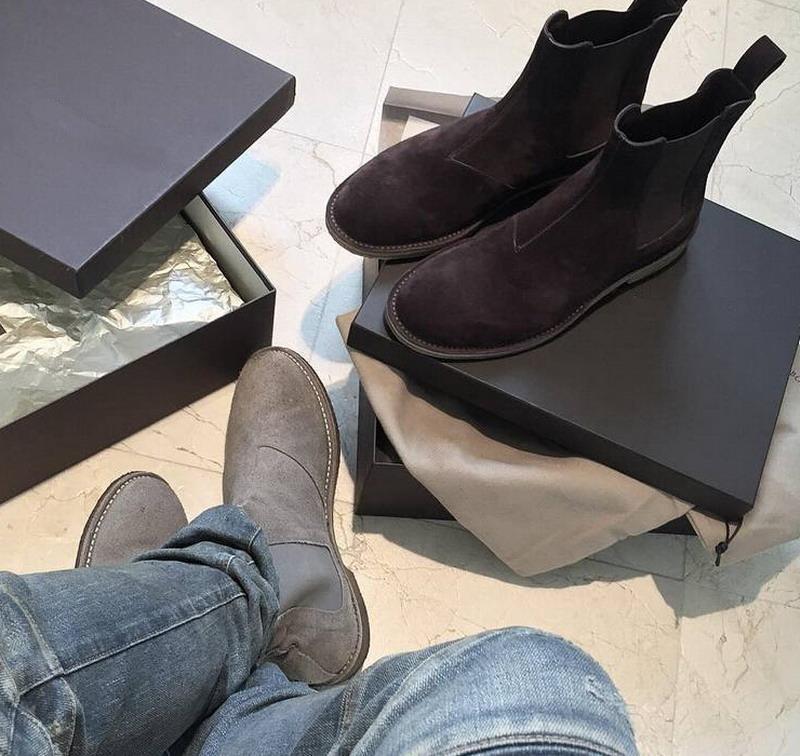 Mode Großhandel Grau Tragen Wildleder West Stiefel Knöchel Von Herren Schuhe Boots Shoppingoy002 Männer Kanye Chelsea vymwnON08