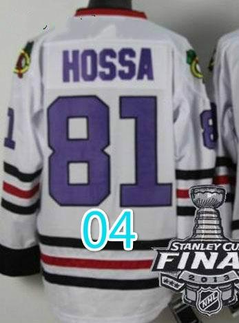 2014 Stadium Series Chicago Blackhawks #81 Marian Hossa NHL White Jerseys