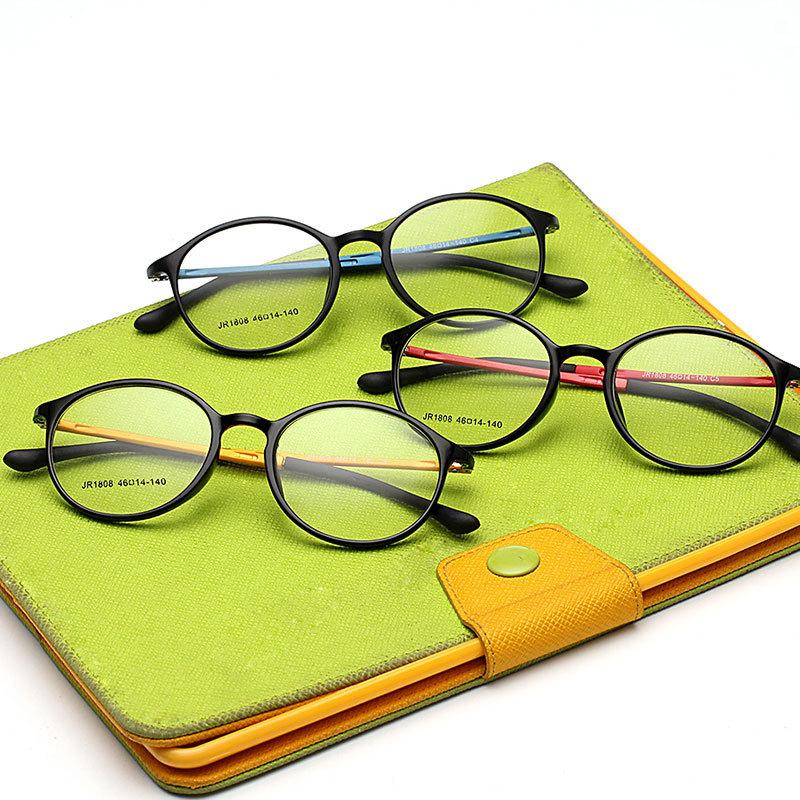 Großhandels- 2016 Art- und Weisemänner einfacher Spiegel ultra-light Tungsten-Myopie-Glas-Rahmen-Frauen-Weinlese-runder Kohlenstoffstahl-Computer-Brillen