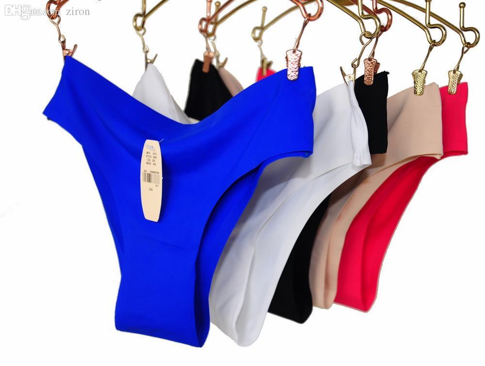 Atacado-6pcs / lot Nova DuPont Calcinha Sem costura Sem linha Cheeky Sexy Bikini Calcinha Mulheres Underwear Marca Sexy feminino Intimates M L XL