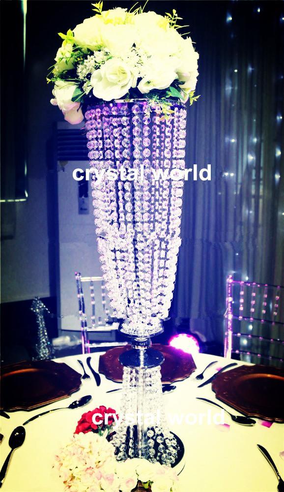 Горячо! металл щепка высокий свадебный цветок vasestand / элегантный свадебный стол цветок стенды центральные для декоративного стола венчания