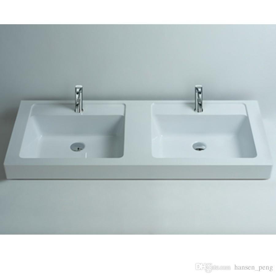 Lavello Bagno Da Appoggio acquista 1200mm rettangolare bagno superficie solida pietra da appoggio  lavello vaso alla moda guardaroba pietra lavabo lavabo vanità rs3806 a  628,55