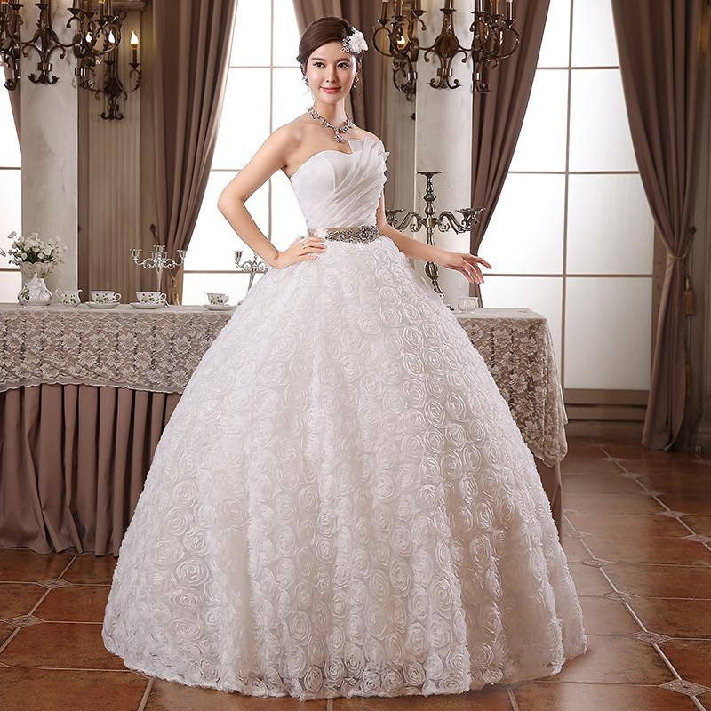 Vestido De Renda! 2015 New Fashion Princess Korean Style Wedding ...