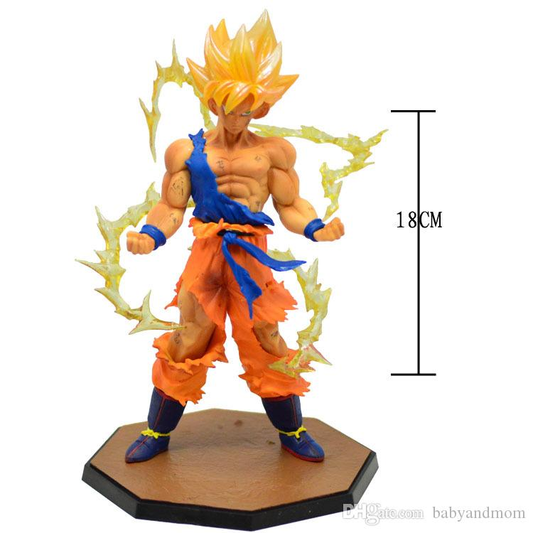 Dragon Ball Z Super Saiyan Goku Vegeta Action Figure Figurines Model Kids Gift