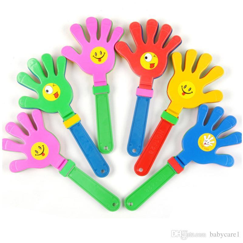 Modo 3pcs puntelli colorate a mano partito batacchio Concerto tifo bambini battono il rumore di piccole mani che applaudono giocattolo