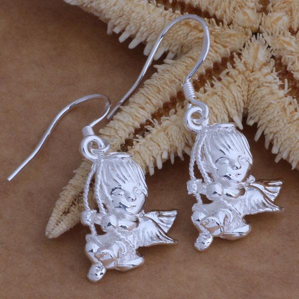 Мода (производитель ювелирных изделий) 40 шт. много Амур серьги стерлингового серебра 925 ювелирные изделия завод цена мода блеск серьги