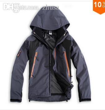 Fall-winter softshell Waterproof 3-layers 3 in1 snowboard windproof male Ski Suit outdoor sport hiking jackets coats twinset for mens