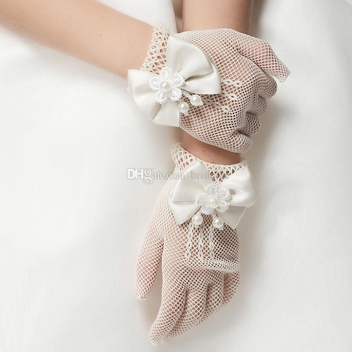 진주 레이스 신부 장갑 2016 새로운 패션 메쉬 탄성 여자 웨딩 장갑 젊은 여자 결혼식 의상 액세서리
