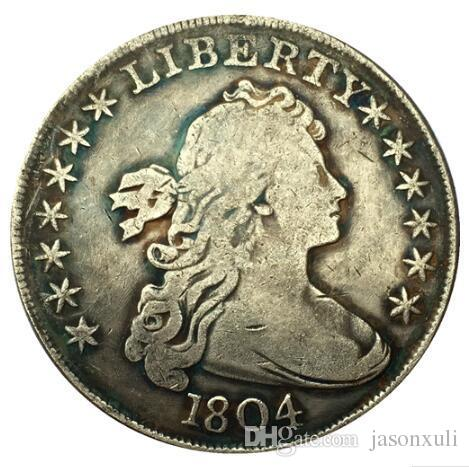 1804 رايات تمثال نصفي الدولار عملة نسخة شحن مجاني