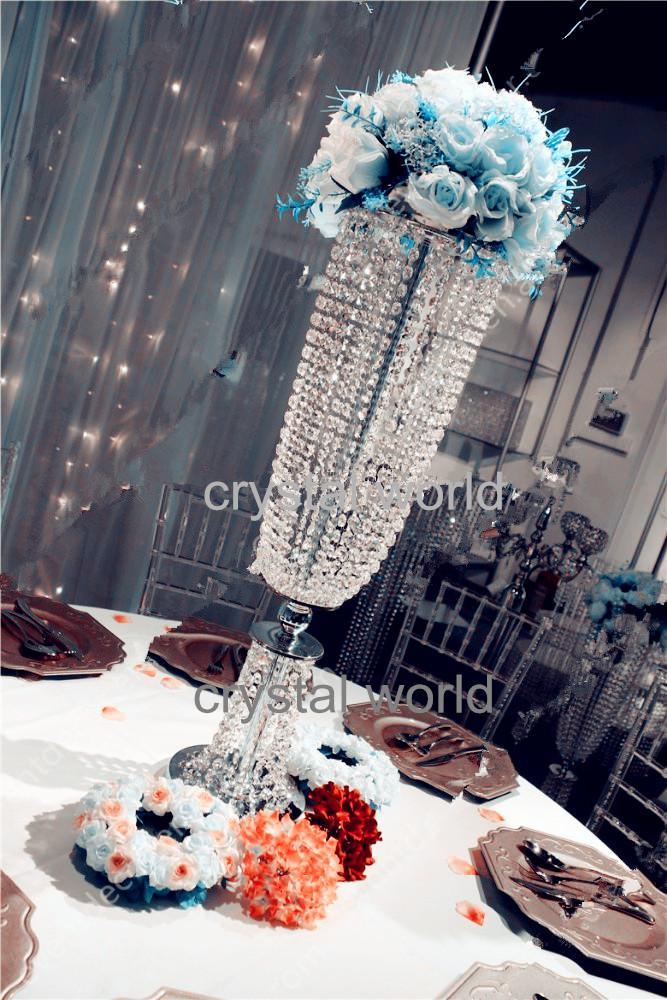 горячая вися акриловое волокно Кристалл свадебный цветок стенд центральные 13