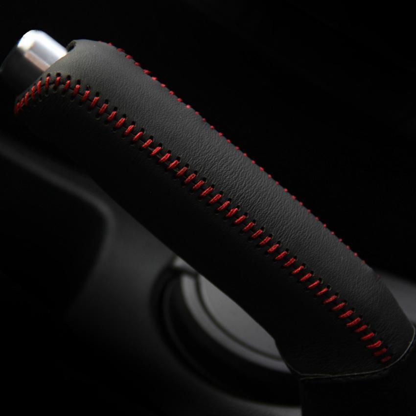 Hyundai VERNA غطاء فرملة اليد تصميم السيارة غطاء فرملة اليد جلد طبيعي إكسسوارات الديكور الداخلي