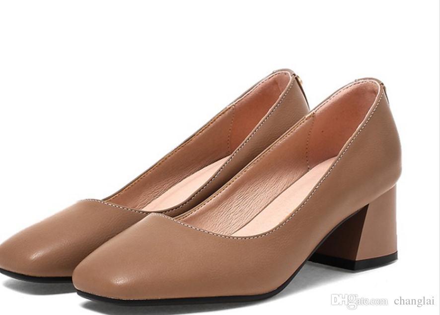 Scarpe piccole all-match 32 bocca superficiale 33 scarpe a testa quadrata 40 con 41 di spessore con 42 43 piedi di fertilizzante ai piedi.