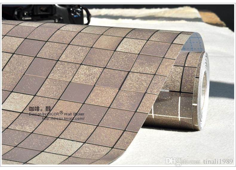 ... Kitchen Waterproof Wall Sticker PVC Mosaic Tile Wallpaper Bathroom Walls  Paper Oil Proof Stickers Self Adhesive ...
