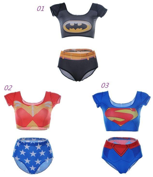 2015 New Avengers superhero series superman batman Sexy Bikini Two Piece Bikini High Waist Bathing Suits  sc 1 st  DHgate.com & 2018 2015 New Avengers Superhero Series Superman Batman Sexy Bikini ...